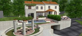 Two semi detached houses with pools in greenery surrounded by the beauties of Dubrovnik region
