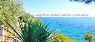 Attractive building land of 1.629 m2 first row to the sea near Dubrovnik