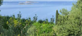 Attractive building land with sea view - Dubrovnik area