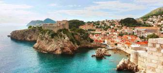 Dubrovnik traditional nobleman house from 17. century with a sea view